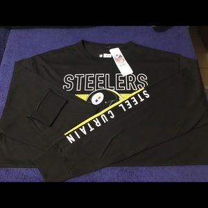 NWT MENS PITTSBURGH STEELERS LONG SLEEVE SHIRT